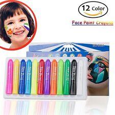 12 Colors Children Kids Face Body Skin Paint Pens Crayons Set Makeup Painting AU