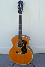 VINTAGE GUILD F212XL 12 String Guitar with hard shell case