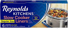 New listing Reynolds Kitchens Premium Slow Cooker Liners 13 x 21 Inc 6 Count