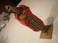 OLD ISRAELI NATIONAL DOLL #10 WOMAN HOLDING  DRUM, ISRAEL, EX, L@@K, NICE!!!