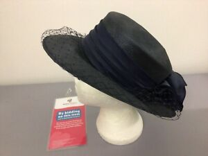 Navy Kangol Occasion Hat Wedding Ascot Races Event  #5482A