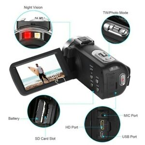 K1 Video Camcorder HDTouch Screen 56 megapixel Camera Cam Fit For Webcam Youbute