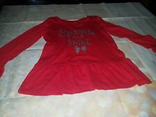 Children girls red hot pink blouse top shirt by Carter Kids Size 7 . NWT