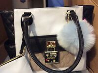 $118 Betsey Johnson 2 In 1 Pin Toote With Pouch  ETR1