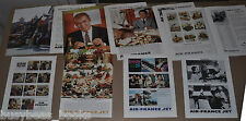 1960-61 AIR FRANCE adverts x8 Gene Kelly Jimmy Stewart Gregory Peck gourmet food