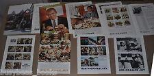 1960-61 AIR FRANCE adverts x8 Gene Kelly Jimmy Stewart Gregory Peck gourmet food