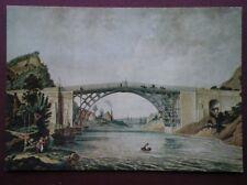POSTCARD SHROPSHIRE THE IRON BRIDGE PAINTING 1779