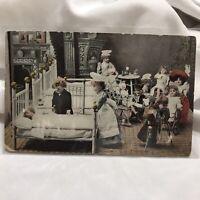 Vintage Creepy Victorian Bisque Dolls Hospital Postcard Trenton NJ Orson PA 1908