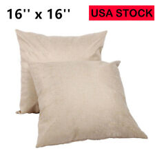 10X Linen Sublimation Blanks Throw Pillow Case Cushion Cover DIY Heat Press USA