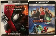 MARVEL SPIDER MAN FAR FROM HOME 4K ULTRA HD BLU RAY 2 DISC SET+ SLIPCOVER SLEEVE