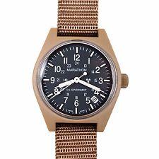 US Issue General Purpose Field Watch Date Marathon Swiss Tan, New Box + warranty