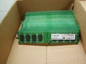 #S1B23 22 X 2GB LOT DDR2 PC2-6400U CRUCIAL CT25664AA800.M16FM DESKTOP MEMORY