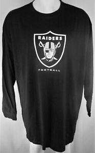 Oakland Raiders NFL Majestic Men's Black Logo Long Sleeve Tee