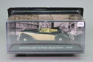 ZT816 IXO voiture 1/43 Rosengart super traction Cabriolet 1939 noire et crème