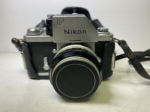 Vintage Nikon F Photomic FTN 35mm Film SLR Camera Nikkor-S Auto 50mm 1.4 Lens