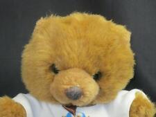 HARD ROCK CALGARY ALBERTA CANADA BROWN TEDDY BEAR BROWN BOW PLUSH STUFFED ANIMAL