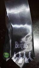 L@@K! The Beatles Grey Satin Neck Tie -  Abbey Road Apple records