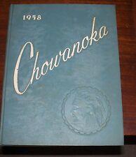 1958 Chowanoka Chowan College, Murfressboro, North Carolina Yearbook