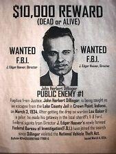 """(144L) GANGSTER JOHN DILLINGER 10,000 REWARD WANTED FBI CRIME POSTER 11""""x14"""""""