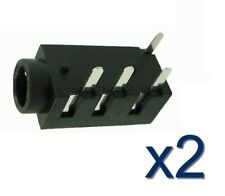 2x Connecteur à souder Jack 3,5mm Audio Stereo femelle Female connector 4 pins