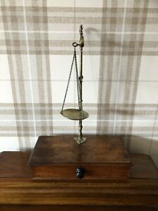 Antique Apothecary, Mahogany & Brass Pharmacy Weights And Scales.