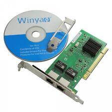 Winyao WY546T2 PCI Dual Port 10/100/1000M Gigabit Intel 8492MT 82546 Nic