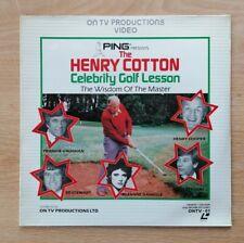 The Henry Cotton Celebrity Golf Lesson - BRAND NEW SEALED PAL Laserdisc ONTV-01