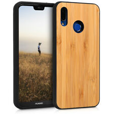 Protective cover for Huawei P20 Lite bamboo Light Brown Wood Case TPU Bumper