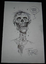 TONY MOORE THE WALKING DEAD ORIGINAL HAND DRAWN SKETCH SIGNED ZOMBIE VERY RARE!!
