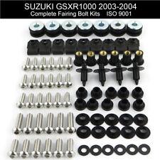 Motorcycle Fairing Bolts Screws Nuts Fasteners Kit For Suzuki 2003 2004 GSXR1000