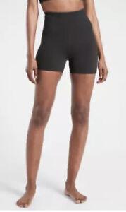 ATHLETA Ultra High Rise Elation Shortie Shorts | Black XS ExtraSmall #980387 NWT