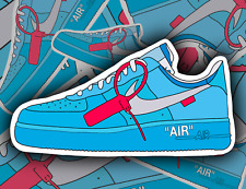 Off-White x Nike Air Force 1 MCA sneakers, Vinyl Sticker.