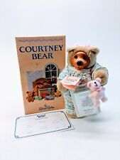 Robert Raikes 1990 Courtney Bear Wooden Face Doll with Music Cassette & Papers