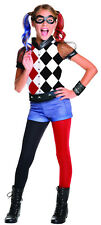 Harley Quinn Girls Costume DC Comics Superhero Villain Costume Size Large 12-14