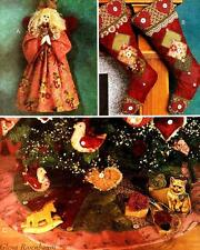 2001 Christmas Stocking Orny Ornament Tree Skirt Pattern McCall's 3426 OOP