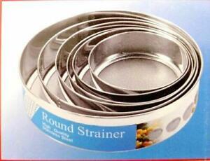 Stainless Steel Strainer Set 6 Pc Round 12.50-14.50-16.50-18.50-20-23.50
