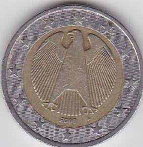 2 EUROS ALLEMAGNE 2008 - Atelier A -Aigle Impériale-
