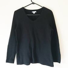 New listing Rockmans Black Pull Over Knit Jumper Size S Winter Style Ribbed Cotton Blend