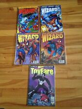 Wizard Magazines # 18,26,50,53,+ Toy Fare , Spiderman Covers