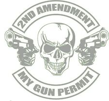 My Gun Permit decal sticker Truck 4X4 Jeep Guns Ammo Ar 15 Aig Smith 2A USA
