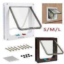 More details for pet door frame 4way locking small medium large dog cat flap magnetic gate abs uk