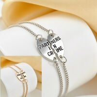 Infinity Charm Chic Partners in Crime Letters Best Friends BFF Bracelet Chain
