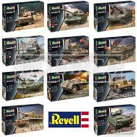 Revell Tanks 1:72 Model Kits Challenger T34 T55 M109 M2 Bradley Pzkpfw Tiger
