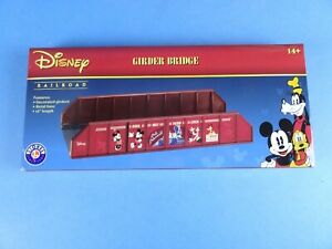 "Lionel 6-82717 Disney Railroad 10"" Girder Bridge New O 027 Metal Base SHIPS FREE"