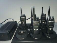(5) FIVE MOTOROLA CP200XLS UHF RADIOS. AAH50RDF9AA5AN COMPLETE..NICE!!