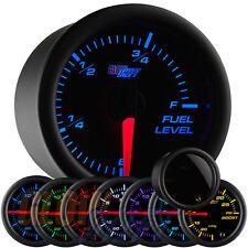 GlowShift 52mm Tinted 7 Color Led Adjustable Fuel Level Gauge - Gs-T715