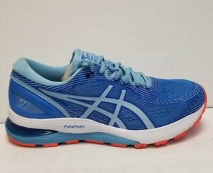 Asics Gel Nimbus 21 Women's Blue/Orange Cross Training Running Shoes Size 8