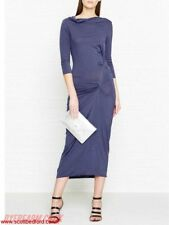 NEW BNWTVivienne Westwood Anglomania TAXA BLUE jersey maxi dress Size XS UK 6, 8