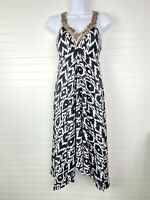 INC International Concepts NEW PS Petite Small Black White Beaded Dress NWT