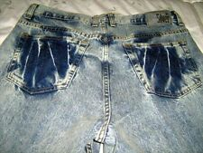 NWOT Men's Ultra Chic Crash Silver Denim Jeans 34x32 Regular Fit One of a Kind